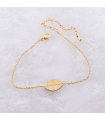 Collier rugby couleur or pour femme