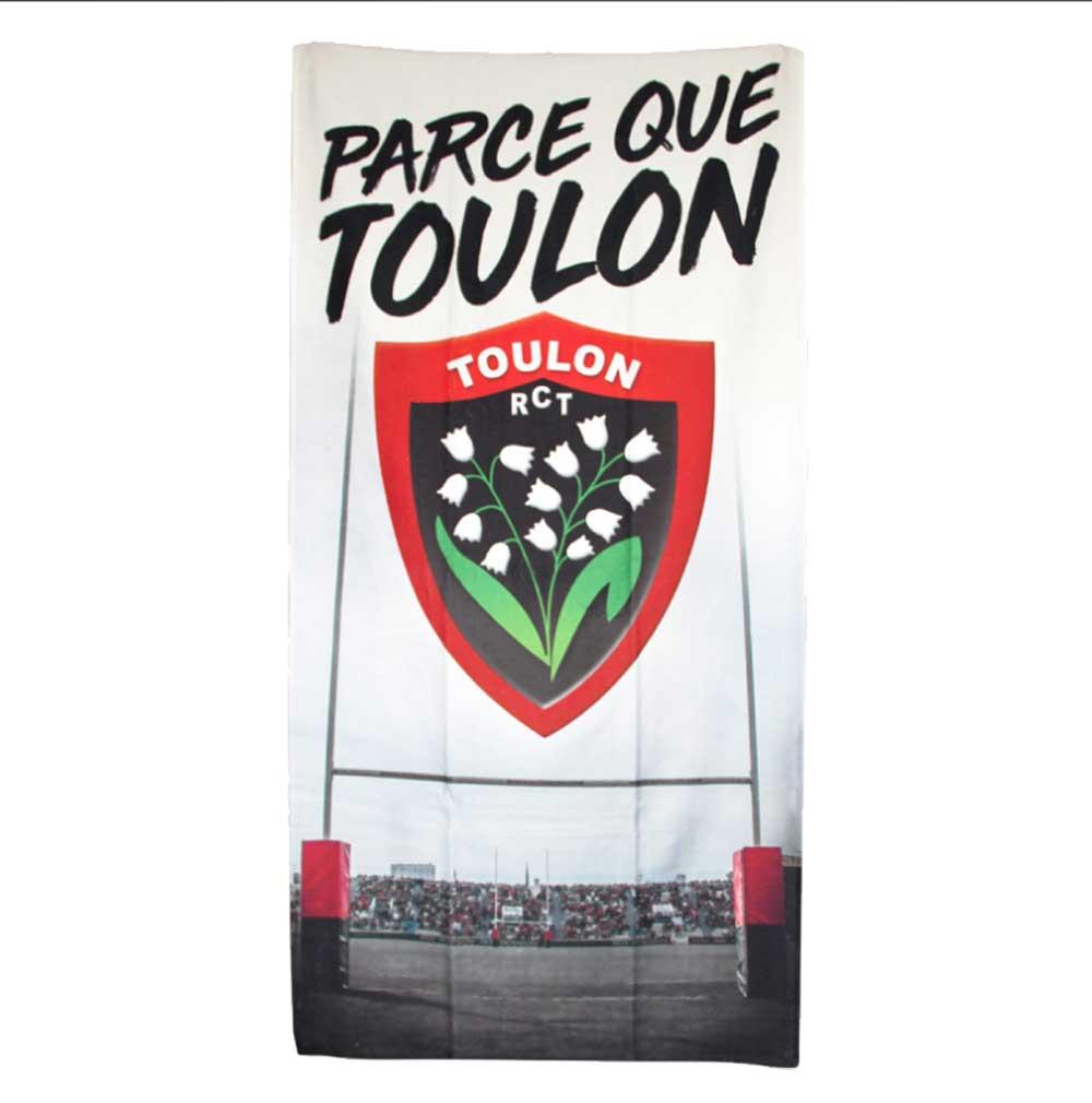 Serviette De Bain Rugby.Serviette De Plage Rugby Club Toulonnais Rct Chez Rugby