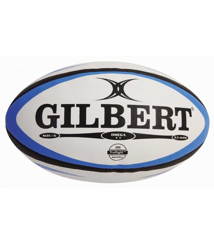 Ballon rugby - Omega bleu-noir - T5 - Gilbert