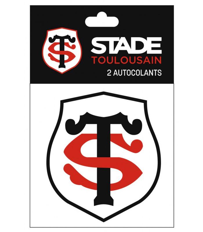 Lot de 2 autocollants rugby Stade Toulousain 10 cm