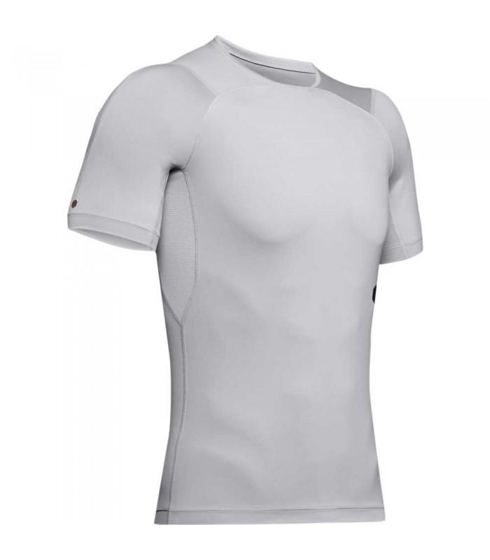Tee shirt rugby de compression - UA Rush gris - UNDER ARMOUR