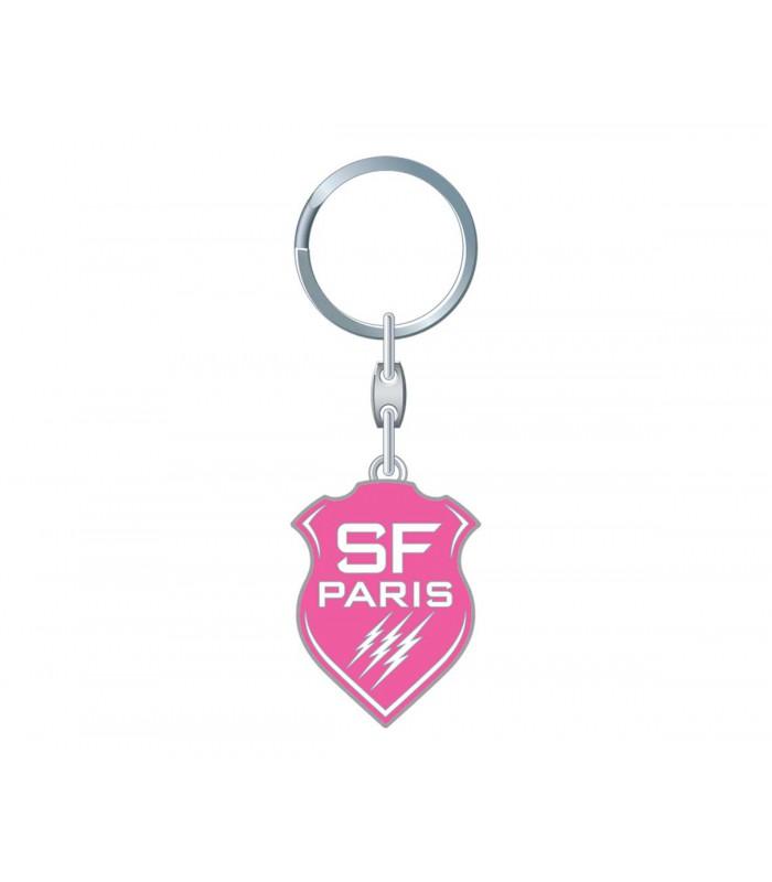 Porte clés blason rose rugby Stade Fançais Paris - Stade Français