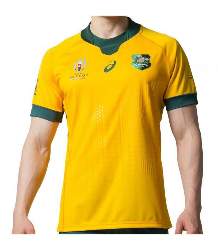 Maillot rugby Australie, réplica domicile RWC 2019 adulte - Asics