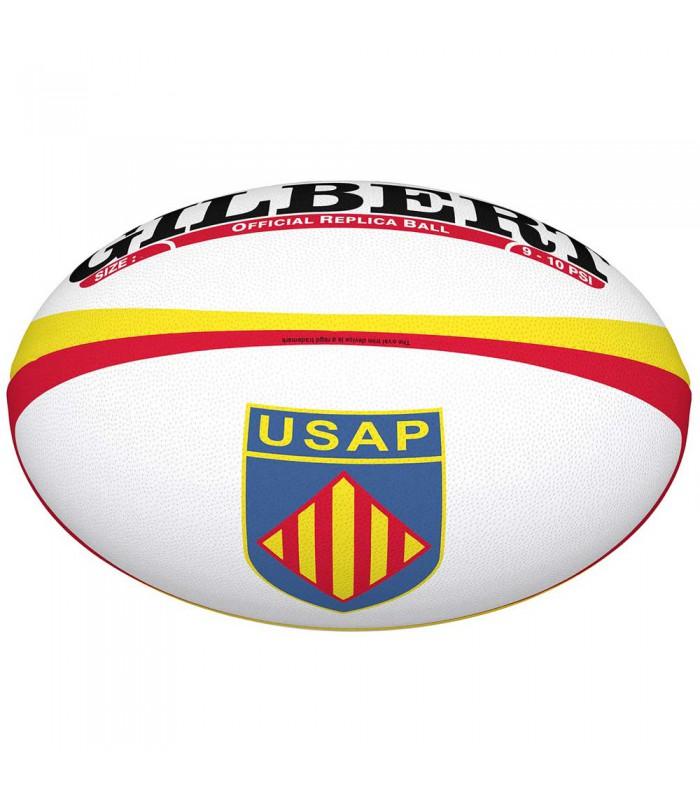 Ballon rugby Perpignan (USAP) réplica T5 - Gilbert