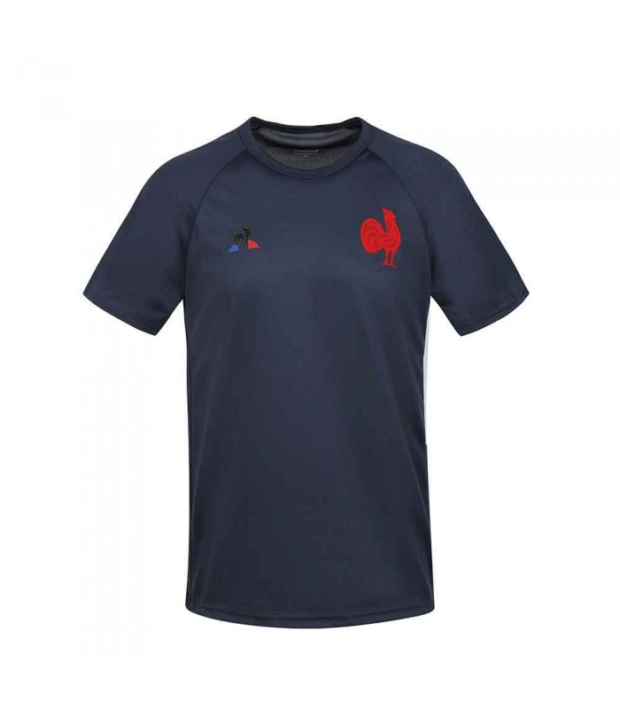 Tee shirt rugby France Rugby entrainement 2020/2021 enfant - Le Coq Sportif