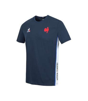 T-shirt Officiel FFR 2021/2022 - Bleu - Enfant - Coq Sportif