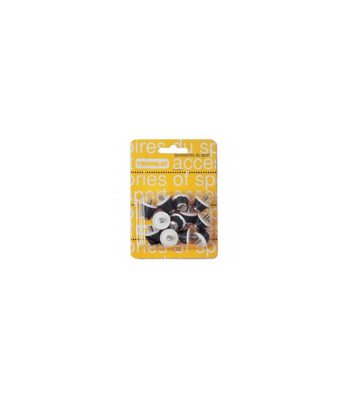 Pack de 12 crampons de rugby Nylon/Acier