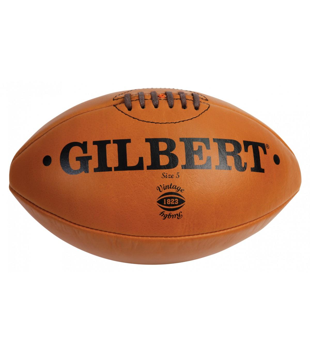 ballon vintage cuir naturel t5 gilbert chez rugby. Black Bedroom Furniture Sets. Home Design Ideas