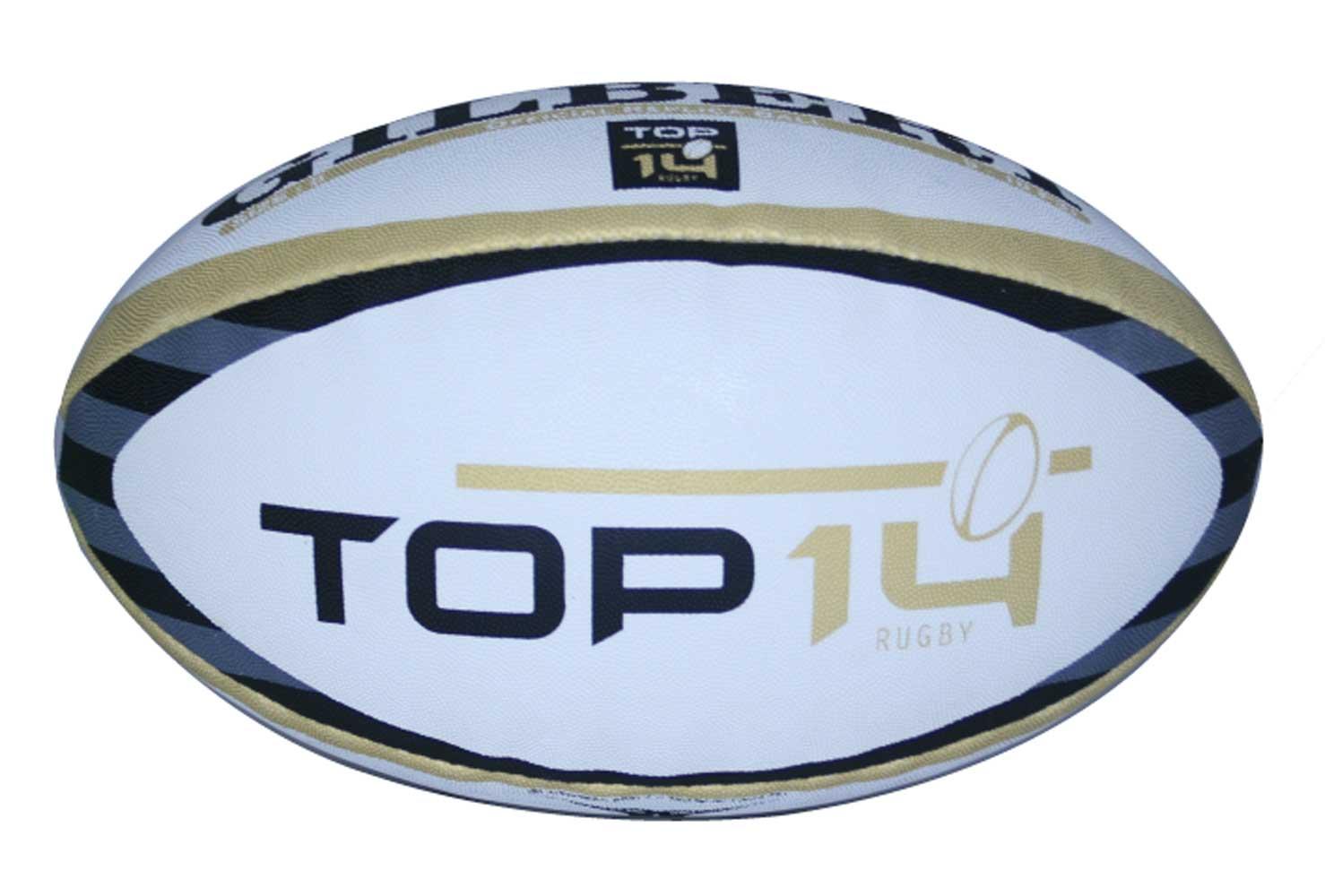 a85c18669e095 Ballon rugby réplica Top 14 - T5 - Gilbert at shop Rugby-Corner.com