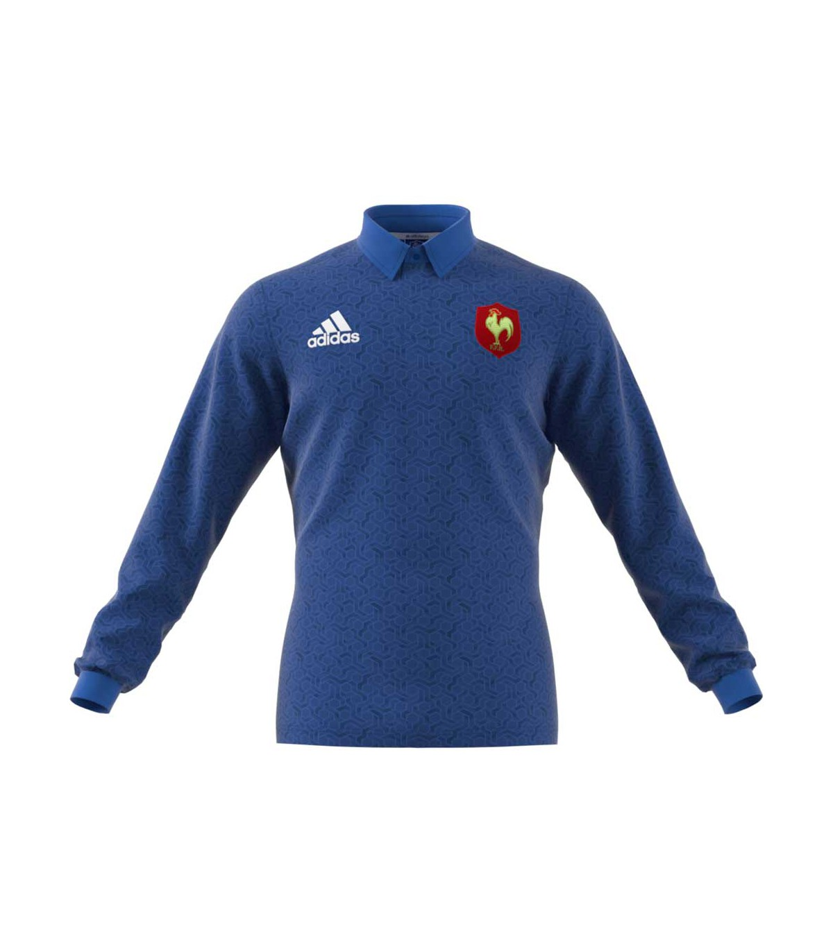 Polo rugby XV de France 20172018 adulte Adidas chez Rugby Corner